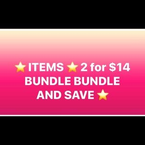 ⭐️⭐️ ITEMS 2 for $14 Bundle and save.
